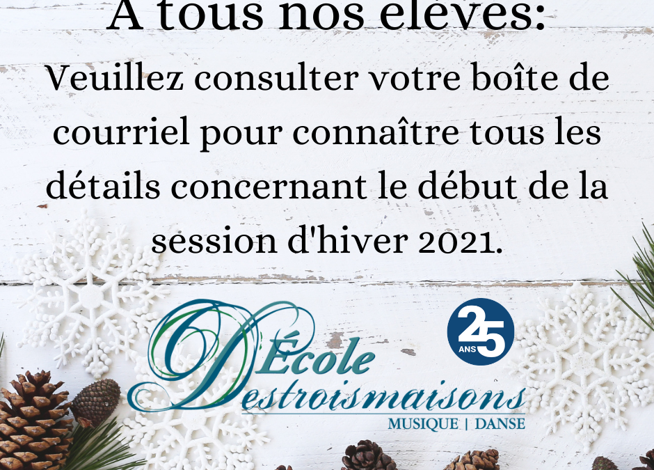 Session hiver 2021